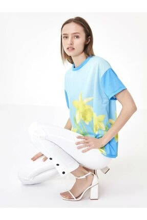 Twist Çiçek Baskı Tshirt 2