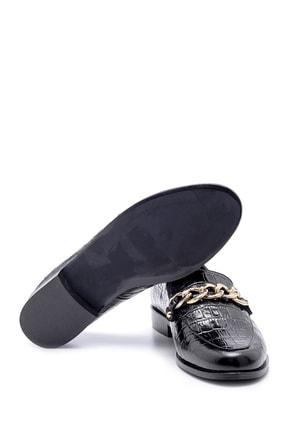 Derimod Kadın Deri Kroko Desenli Loafer 2