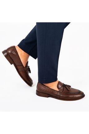 MPP Hakiki Deri Loafer Erkek Ayakkabı Trs502 Kahverengi 2