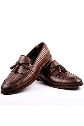 MPP Hakiki Deri Loafer Erkek Ayakkabı Trs502 Kahverengi 4