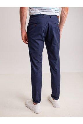 Dufy Lacivert Aksesuar Detaylı Armür Pamuklu Likra Erkek Pantolon - Modern Fit 3
