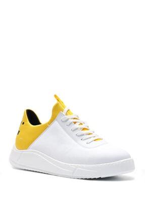 Bulldozer 201434 Beyaz Sarı Erkek Casual Ayakkabı 1