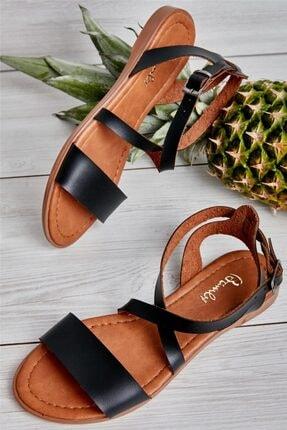Bambi Siyah Kadın Sandalet L0671404109 1
