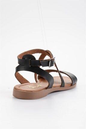 Bambi Siyah Kadın Sandalet L0671404109 4