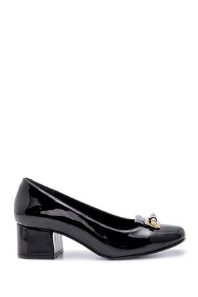 Derimod Kadın Rugan Kalın Topuklu Ayakkabı 0
