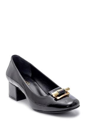 Derimod Kadın Rugan Kalın Topuklu Ayakkabı 1