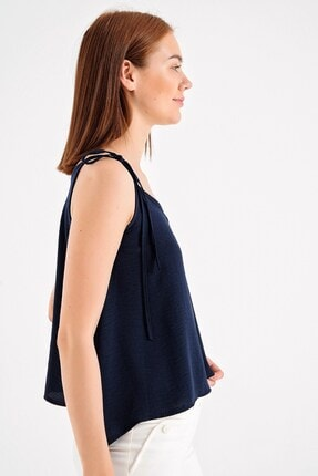 Jument Askılı Bol Kesim Bluz- Lacivert 1