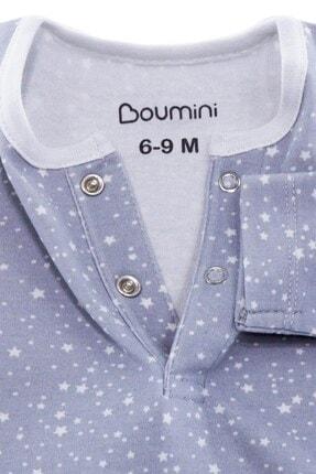 Boumini Unisex Bebek Mavi Uzun Kollu Çıtçıtlı Tulum Yıldız Tozu 3
