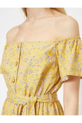 Koton Dügme Detayli Elbise 4