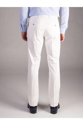 Dufy Beyaz Düz Erkek Pantolon - Regular Fıt 2
