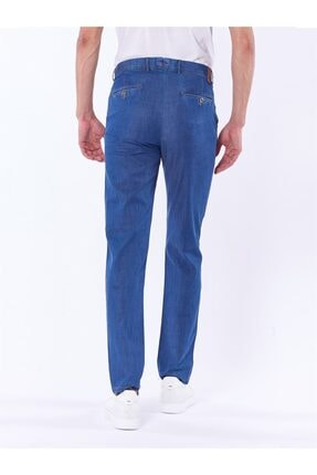 Dufy Mavi Büyük Beden Düz Erkek Pantolon - Battal 3