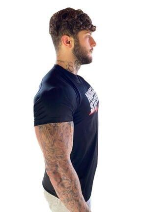 Muscle Station Musclestation Siyah Fitness Tshirt 1