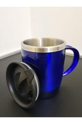 MODZİGO Mavi Renk Paslanmaz Çelik Kupa Bardak Termos Vakumlu 450 Ml 3