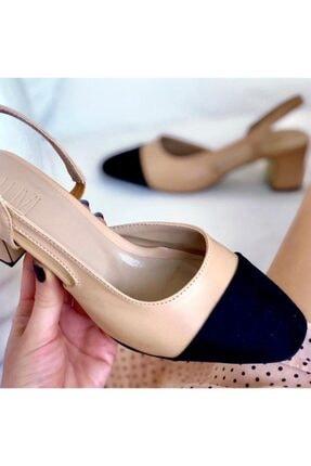 LuviShoes S3 Ten Cilt Siyah Süet Kadın Topuklu Ayakkabı 1