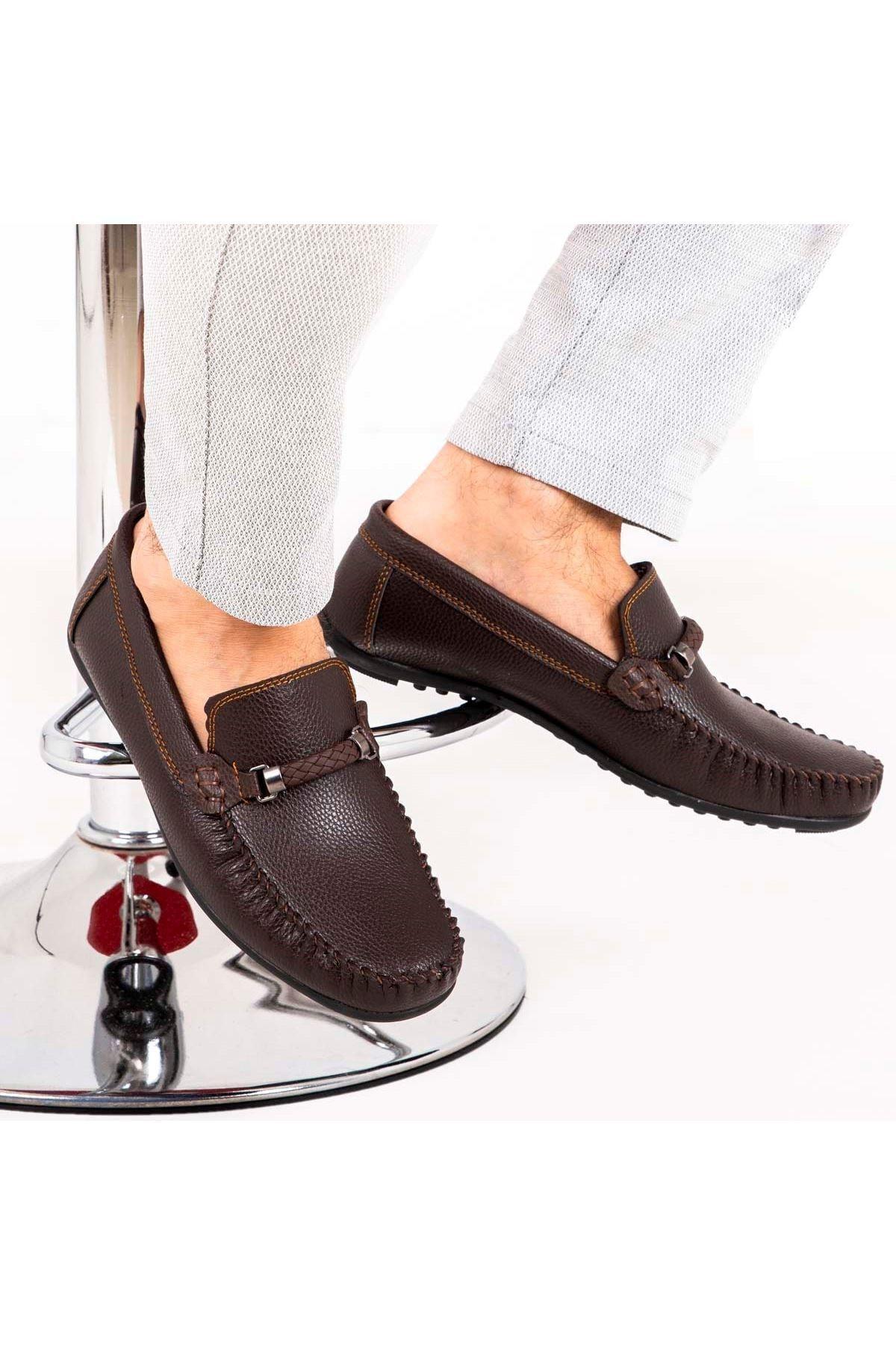 Ortopedik Loafer Erkek Ayakkabı Mln1102 Kahverengi