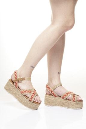 Delos Etnik Hasır Sandalet 1