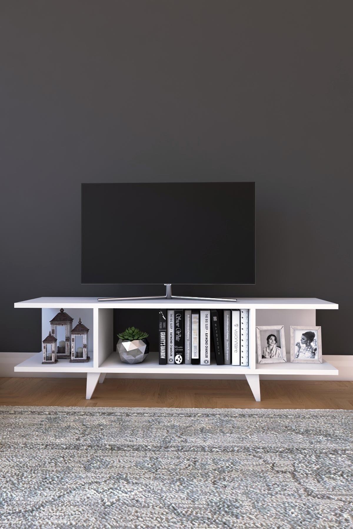 Kapaksız Tv Ünitesi Modern Tv Ünitesi 90 Cm Tv Sehpası