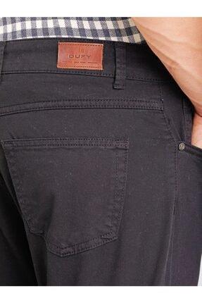 Dufy Siyah Pamuklu Likra Erkek Pantolon - Modern Fit 1