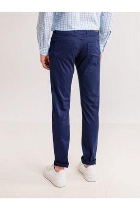 Dufy Lacivert Pamuk Likra Karışımlı Erkek Pantolon - Modern Fit 2