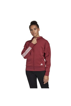 adidas W 3s Dk Hoodie Kadın Kırmızı Günlük Stil Ceket Gc6950 0