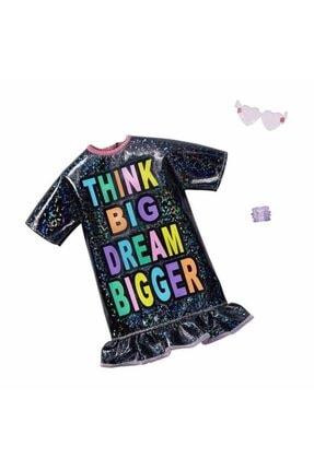 Barbie 'nin Son Moda Kıyafetleri Fnd47 - Think Big Dream Bigger Elbise 0