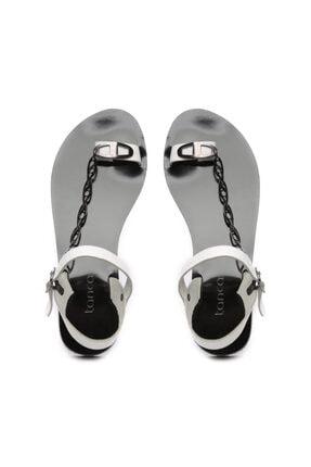 Kemal Tanca Kadın Derı Sandalet Sandalet 607 Rl112 Byn Snd 2