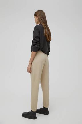 Pull & Bear Kadın Camel Pantolon 3