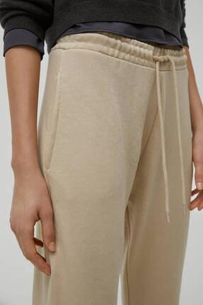 Pull & Bear Kadın Camel Pantolon 4