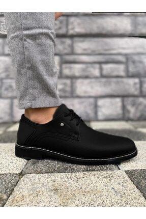 Marsetti Erkek Siyah Klasik Casual Ayakkabı 2