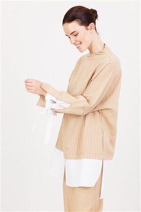Ghisa Beyaz Koton Detaylı Tunik Pantolon Takımı Camel 3