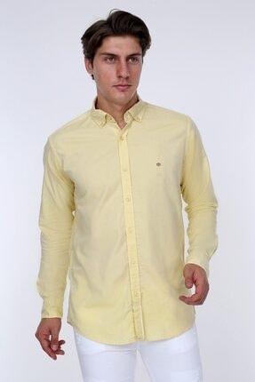 GULF BIRD Oxford Sarı Slım Fıt Erkek Gömlek 0
