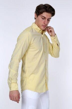 GULF BIRD Oxford Sarı Slım Fıt Erkek Gömlek 1