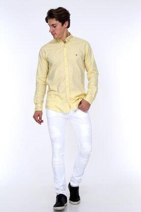 GULF BIRD Oxford Sarı Slım Fıt Erkek Gömlek 3
