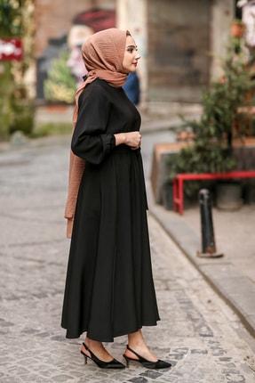 benguen 7069 Tesettür Elbise - Siyah 3
