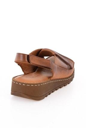 Bambi Hakiki Deri Taba Kadın Sandalet L0529001803 3