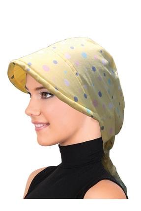 fidan bone Koton Şapka Sarı Puantiyeli Bone 0