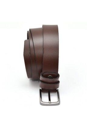 Hakiki Deri Kahverengi Kumaş Pantolon Kemeri 3.5cm YSK2007-3.5CM