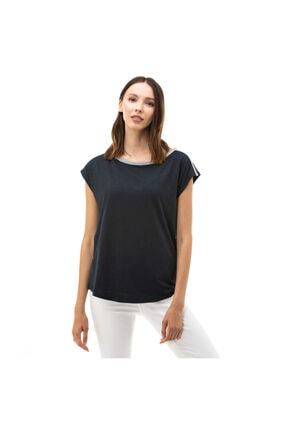 Kadın Standart Fit Lacivert T-Shirt 05K320T