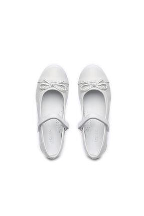 Kemal Tanca Kız Çocuk Beyaz Derı Ayakkabı 406 3015 Cck 26-36 Y19 Babet 2