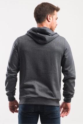 caddecity Düz Fermuarlı Kapş. Kanguru Cep Detay Sweatshirt 3