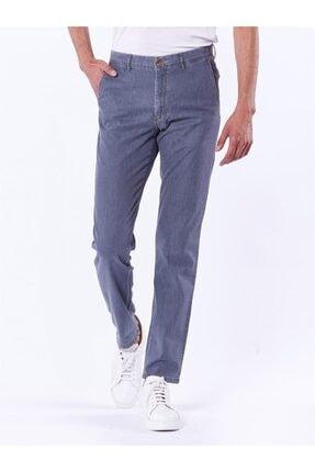 Dufy Açık Gri Büyük Beden Düz Erkek Pantolon - Battal 0