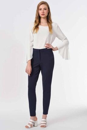 Basic Dar Paça Pantolon (Lacivert) resmi