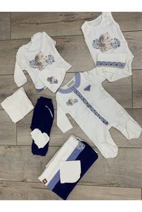 Cassiope 10 Parça Mavi-beyaz Erkek Bebek Hastane Çıkışı 0