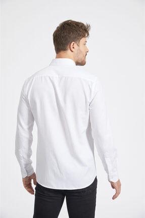 Avva Erkek Beyaz Oxford Düğmeli Yaka Slim Fit Gömlek A02b2287 2