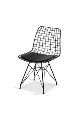 Evdemo Dekor Tel Sandalye Siyah 0