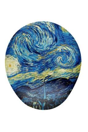 OEM Van Gogh Yıldızlı Gece Baskılı Mousepad - Bilek Destekli Mousepad 0