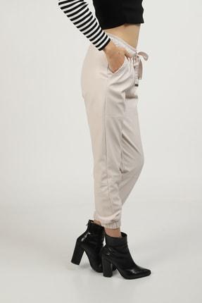 MOGS Paçası Lastikli Parça Detaylı Deri Pantolon 2