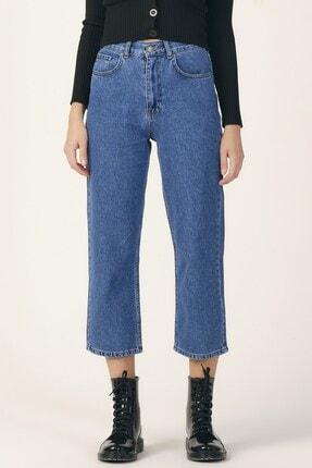 its basic Kadın Mavi Renk Wide Leg Kalıp Yüksek Bel Jean 0