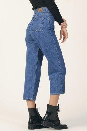 its basic Kadın Mavi Renk Wide Leg Kalıp Yüksek Bel Jean 1