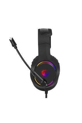 Rampage Bygame-x3 Siyah 7.1 Usb Surround Rgb Işık Efektli Gaming Oyuncu Mikrofonlu Kulaklık 2